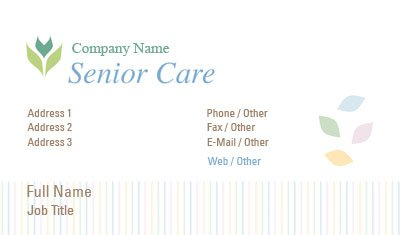 White Senior Care Business Card Template